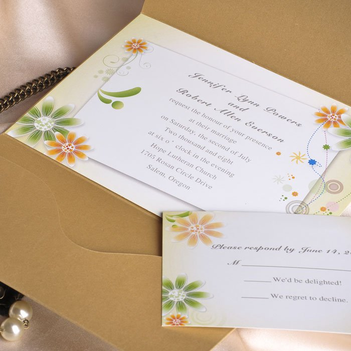 Pocket Invitation Kits For Wedding
