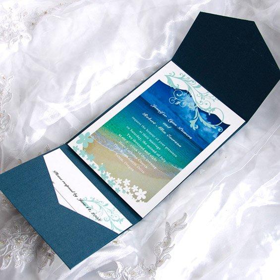 Pocket Wedding Invitation Kits
