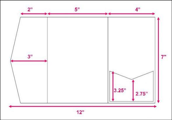 Pocketfold Invitation Template 12x12 Cardstock