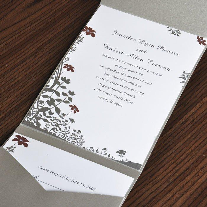 Pocketfold Wedding Invitations Cheap