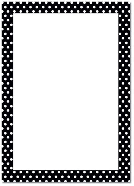 Polka Dot Blank Invitations