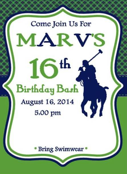 Polo Party Invitations