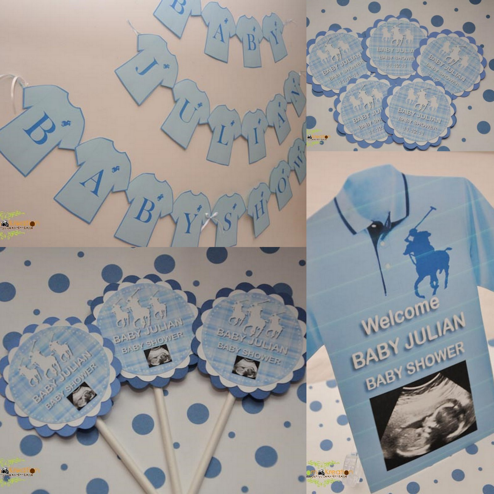 Polo Themed Baby Shower Invitations