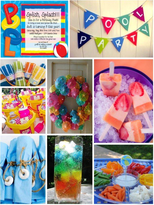 Pool Party Invitation Ideas Homemade