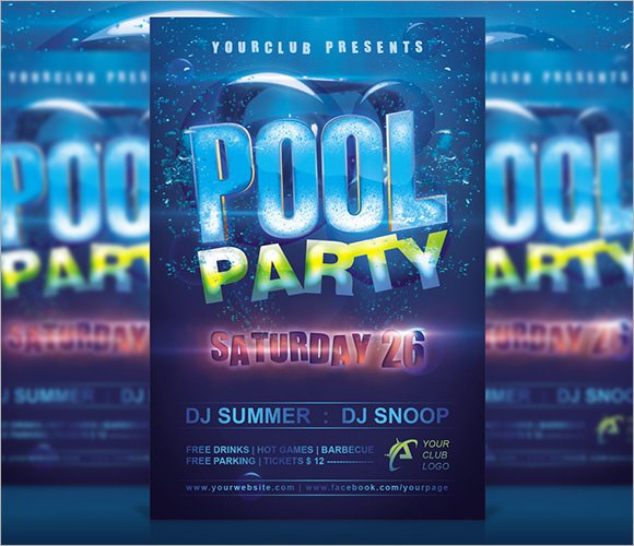 Pool Party Invitations Free Templates