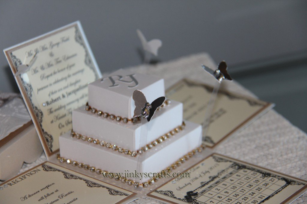 Pop Up Box Wedding Invitations