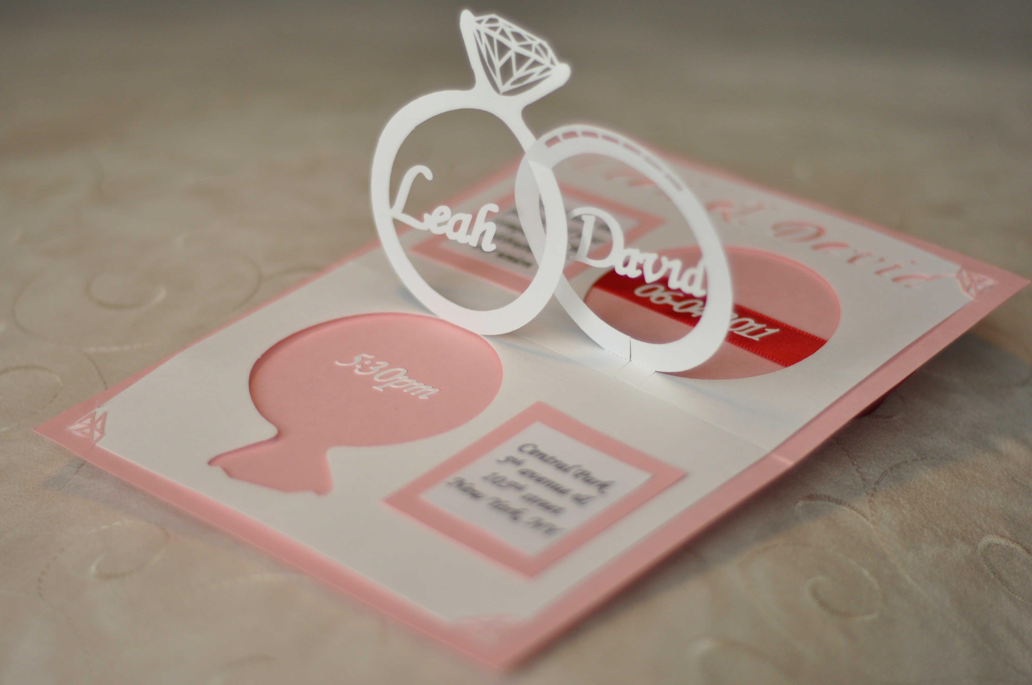 Pop Up Wedding Invitations Templates