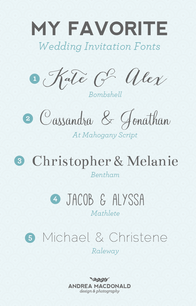 Popular Invitation Fonts