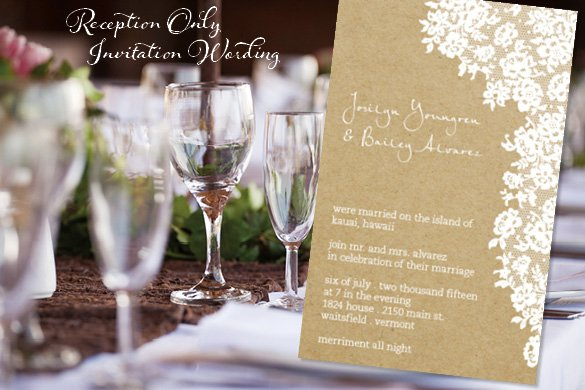 Post Reception Only Invitation Wording