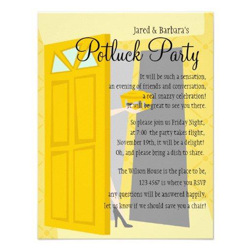 Potluck Party Invitation Ideas