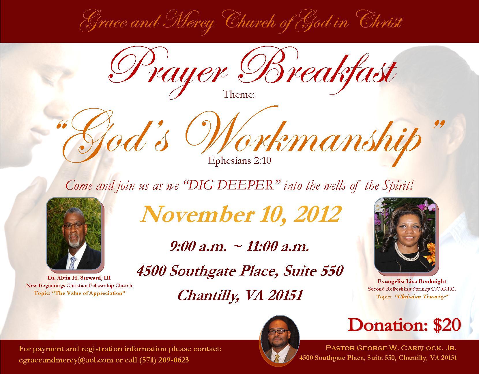 Prayer Breakfast Invitation Sample