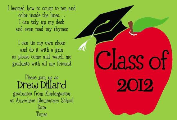 Preschool Graduation Invitation Quote – Preschool Graduation Invitations