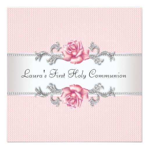Pretty Communion Invitations