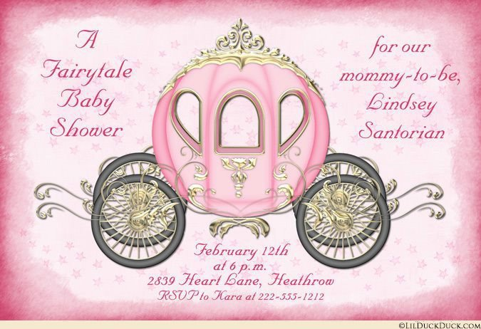 Princess Baby Shower Invitation Ideas