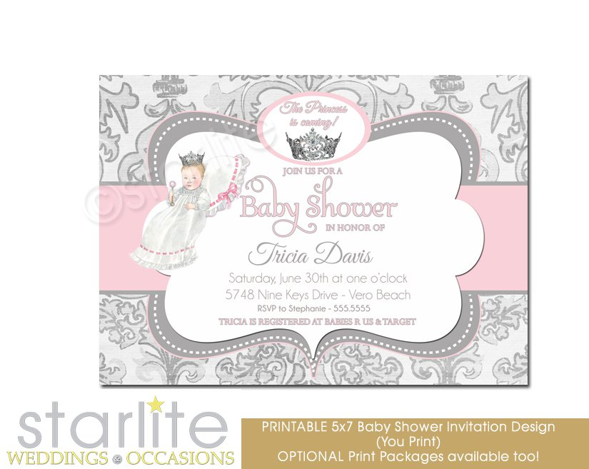 Princess Baby Shower Invitation Wording