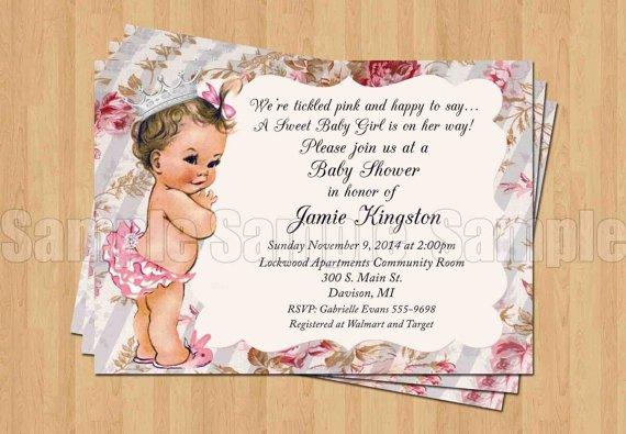 Princess Baby Shower Invitations Walgreens