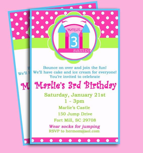 Princess Bounce House Invitations Printable