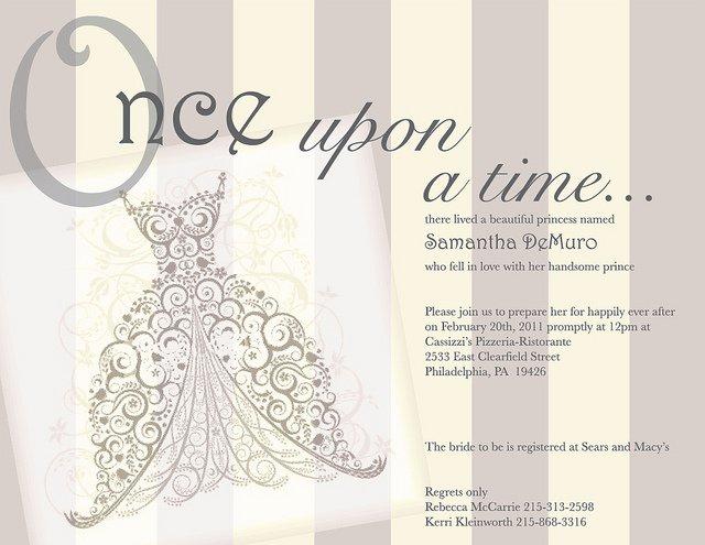 Princess Bridal Shower Invitations
