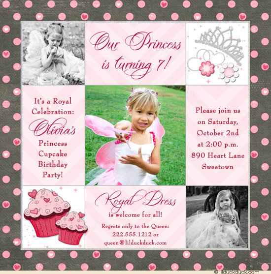 Princess Christening Invitations