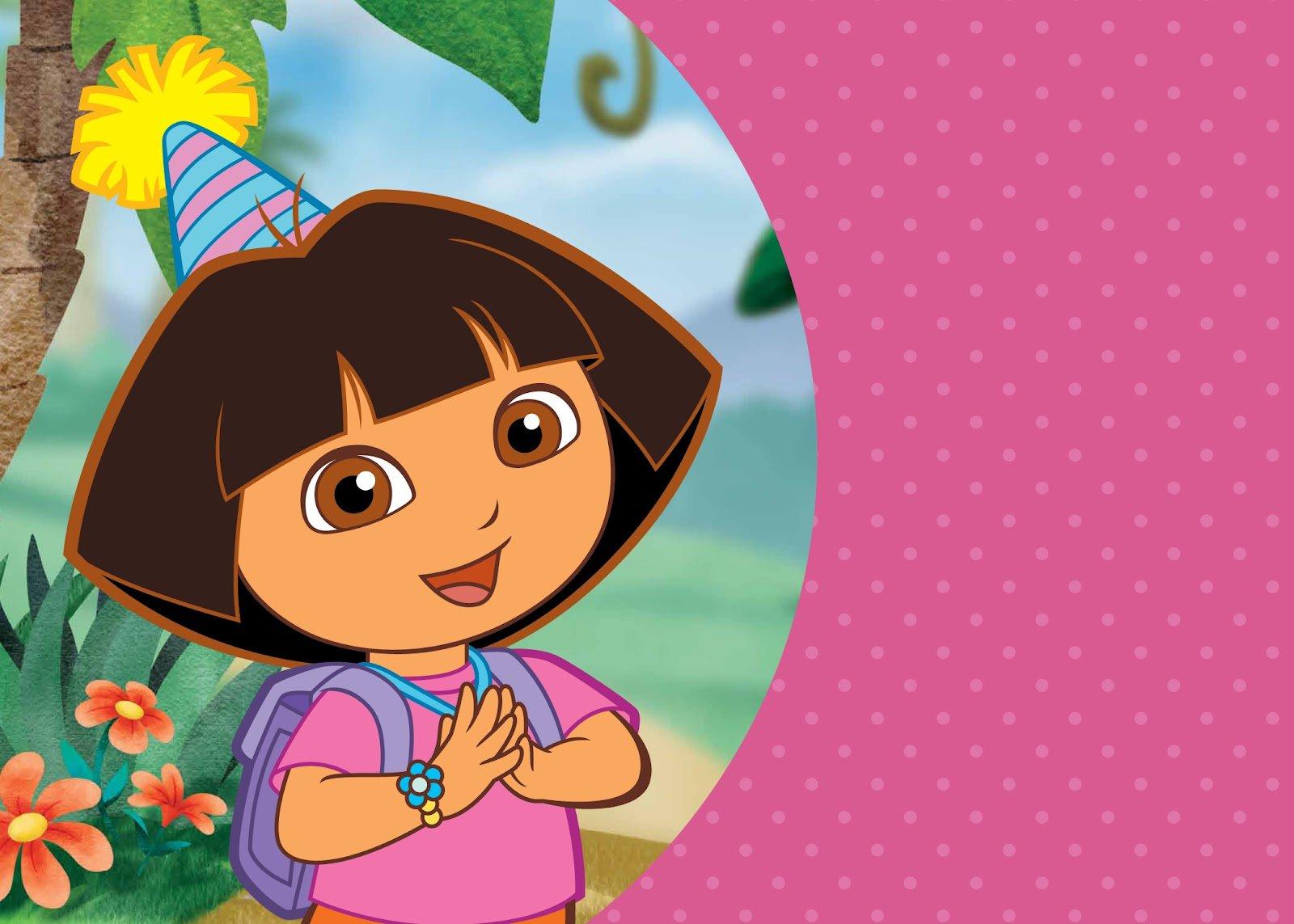 Princess Dora Birthday Party Invitations