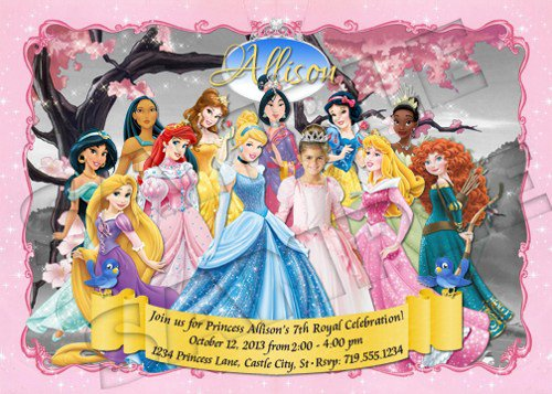 Princess Invitation Party
