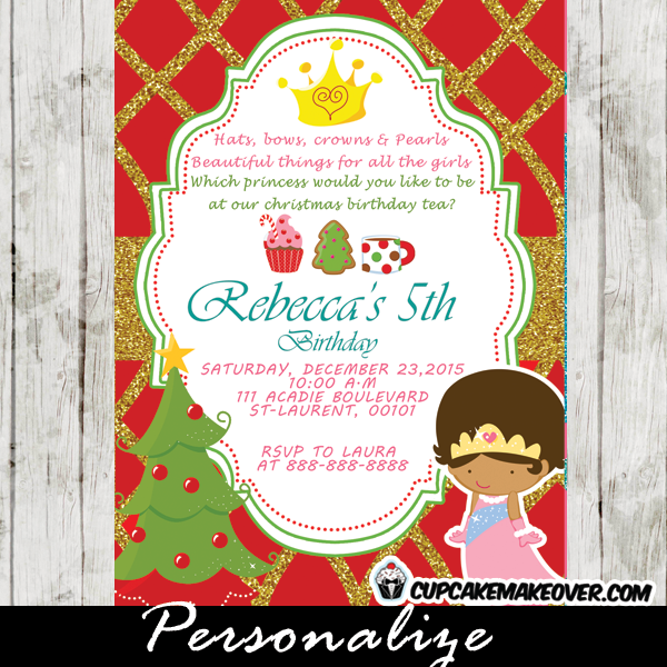 Princess Makeover Party Invitation Wording