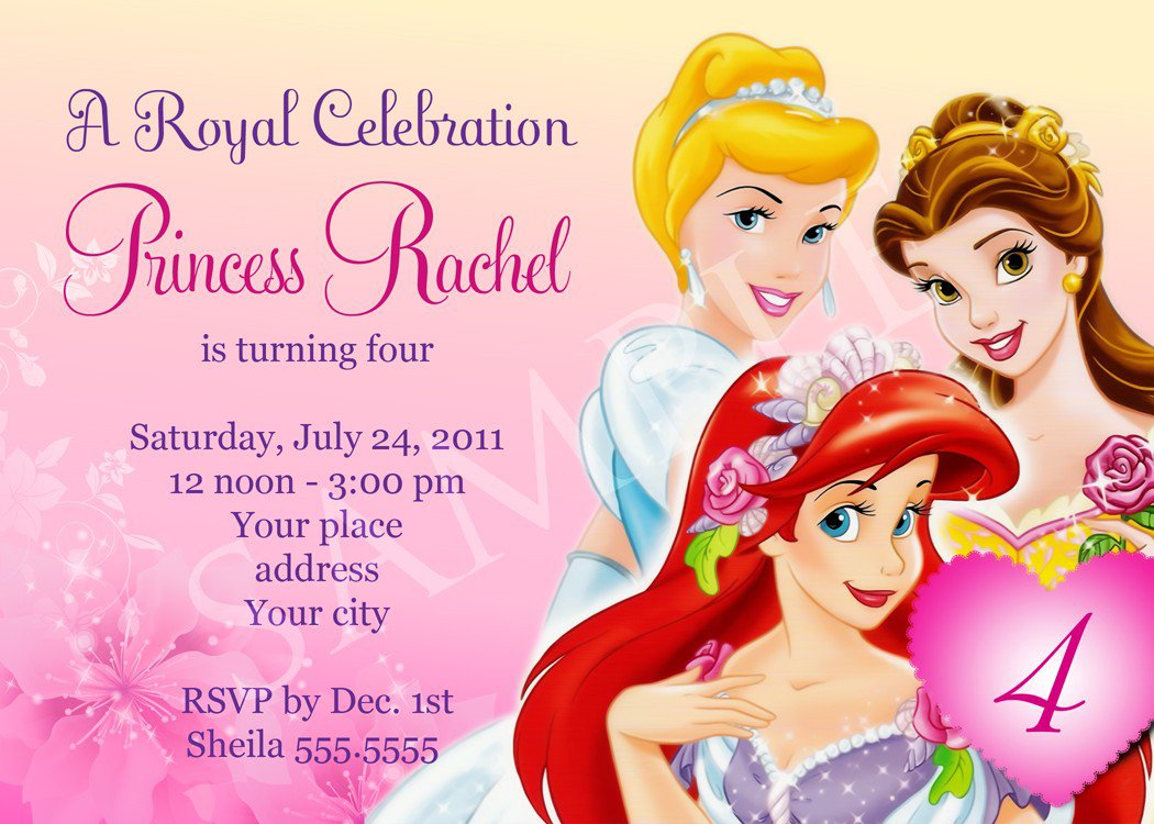 Princess Party Invitation Template Word