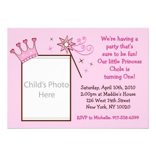 Princess Party Invitations Unique