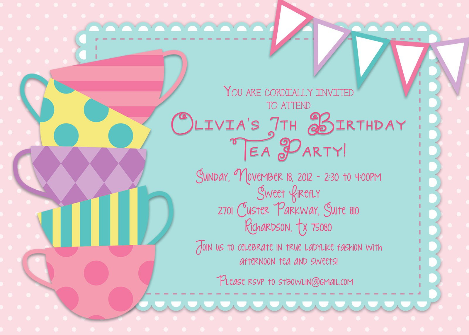 Princess Tea Party Invitation Wording Ideas