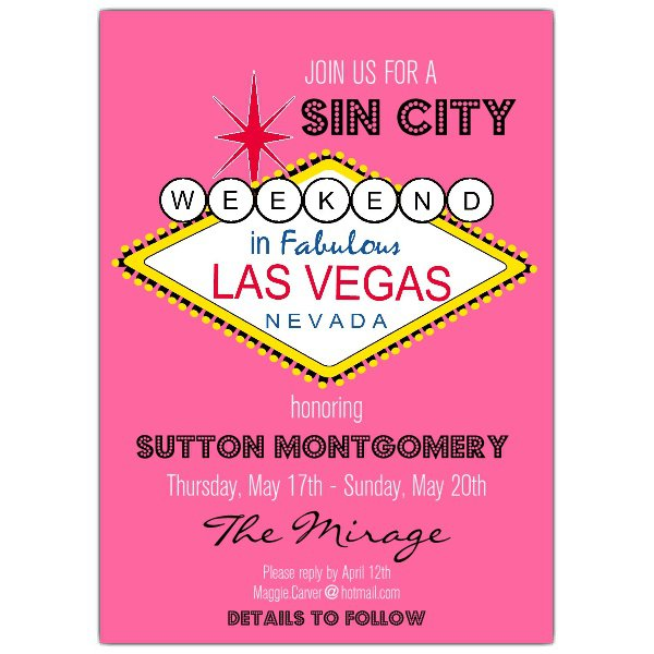 Print Your Own Bachelorette Party Invitations