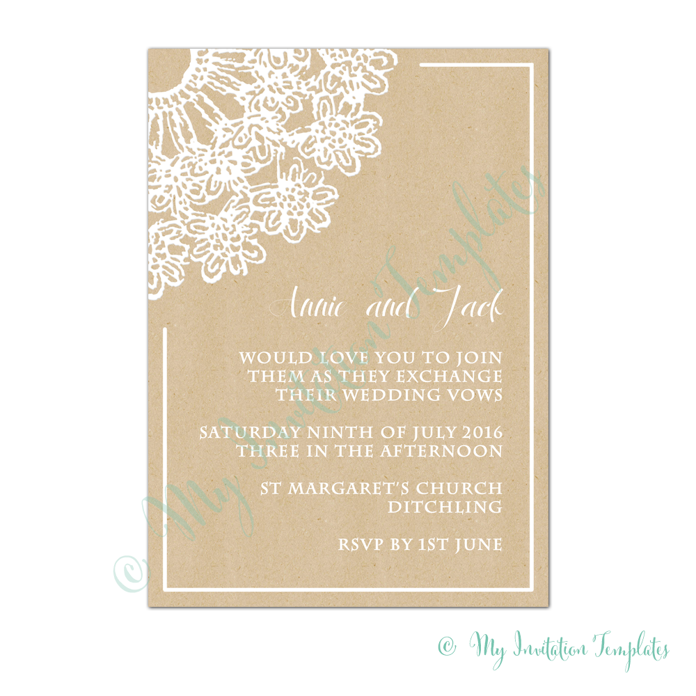 Print Your Own Wedding Invitation Design