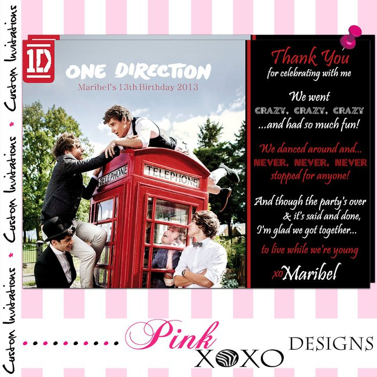 Printable 1d Party Invitations