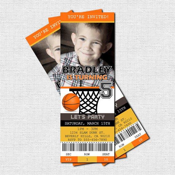 Printable Basketball Birthday Invitations
