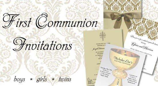 Printable Blank Communion Invitations