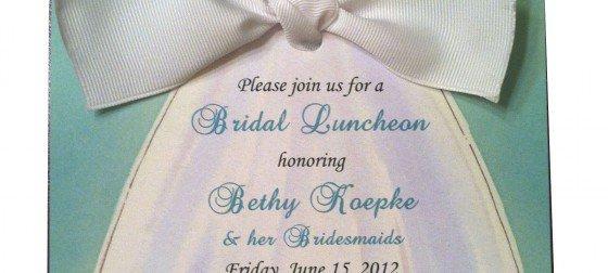 Printable Bridal Luncheon Invitations
