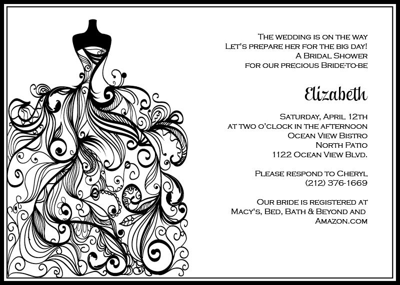 Printable Bridal Shower Invitations Kits