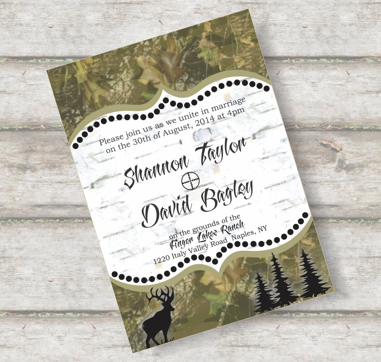 Printable Camo Wedding Invitations