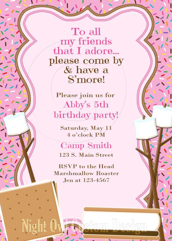 Printable Camp Out Birthday Invitations