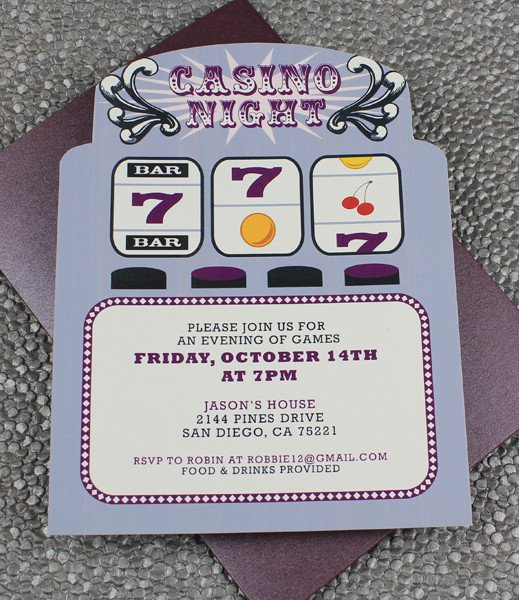 Printable Casino Party Invitations