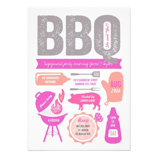 Printable Cookout Invitations