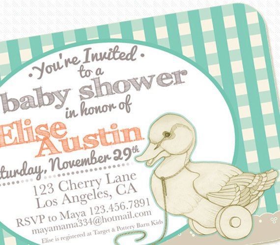 Printable Duck Baby Shower Invitations