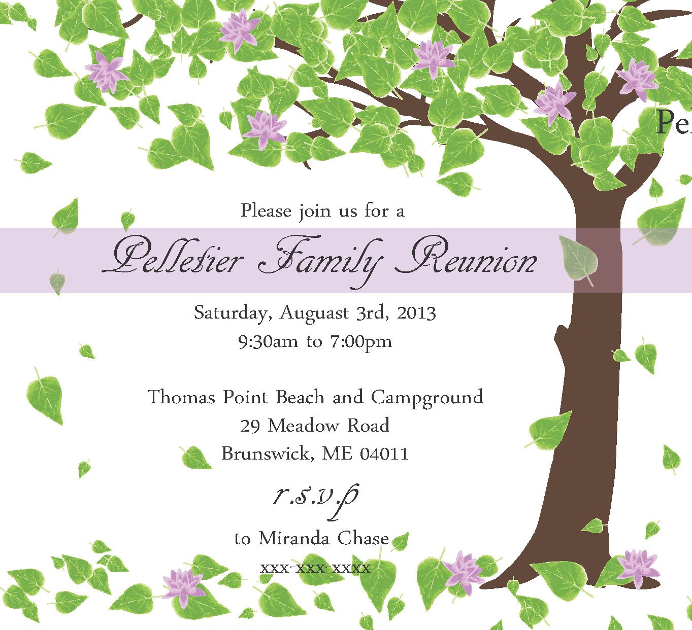 Printable Family Reunion Invitations