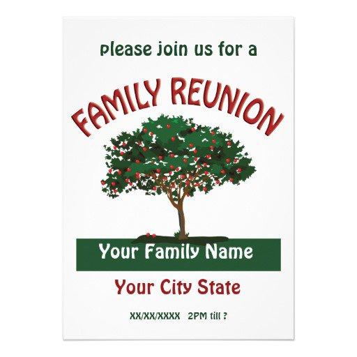 Printable Family Reunion Invitations Templates
