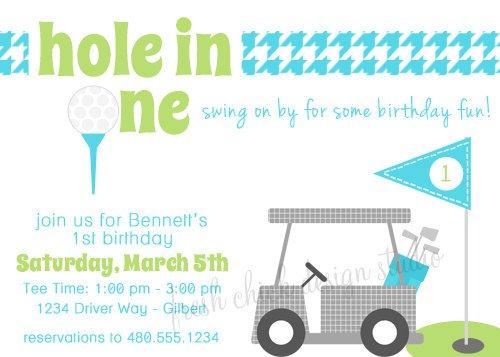 Printable Golf Birthday Invitations