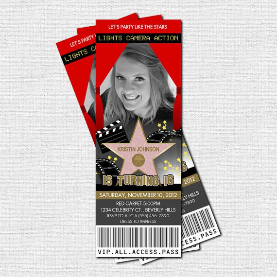 Printable Hollywood Invitations For Free