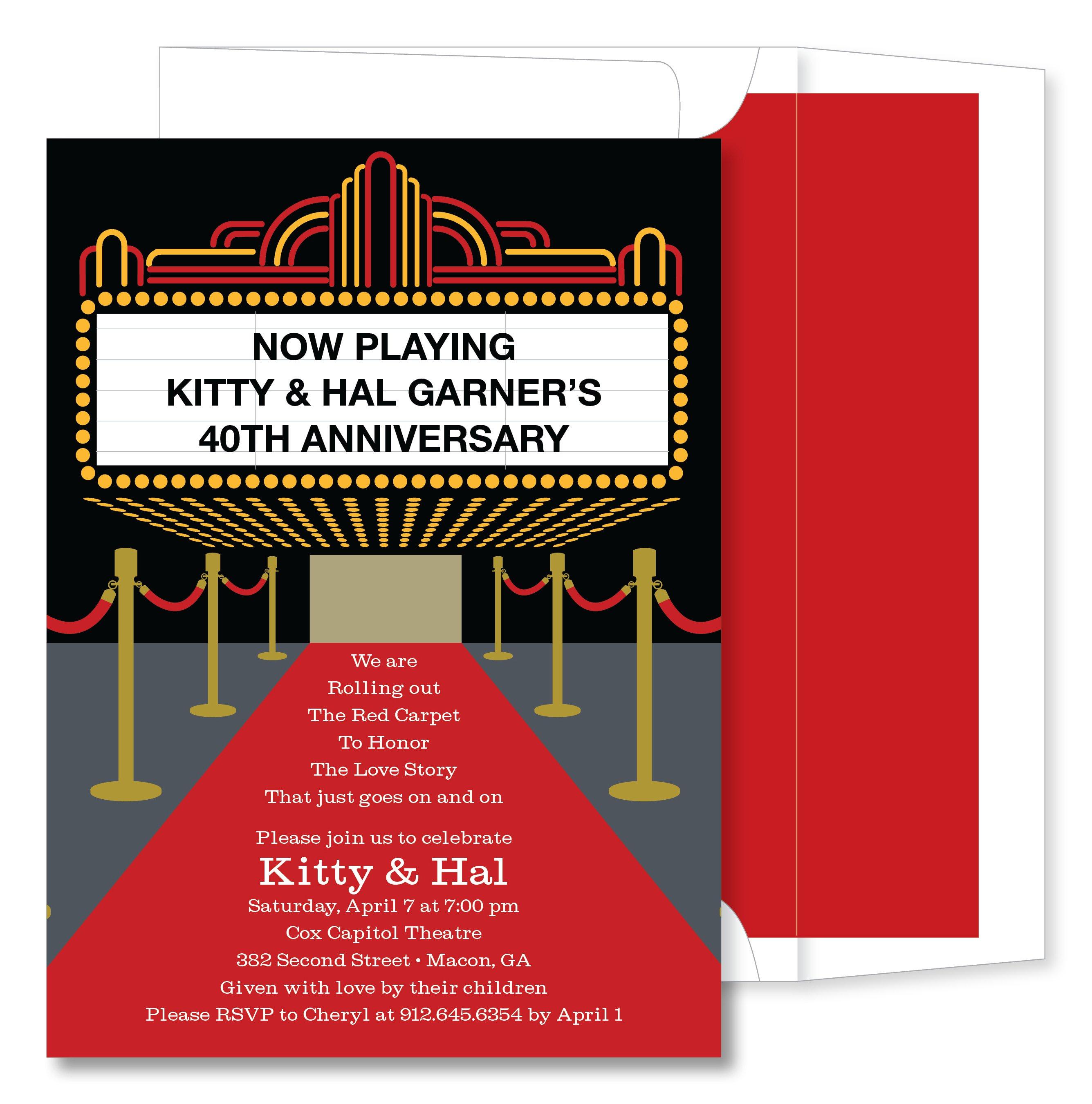 Printable Invitations Red Carpet