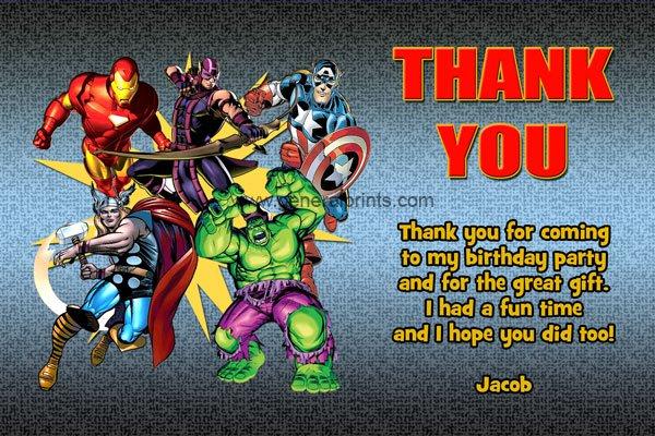 Printable Marvel Avengers Birthday Invitations