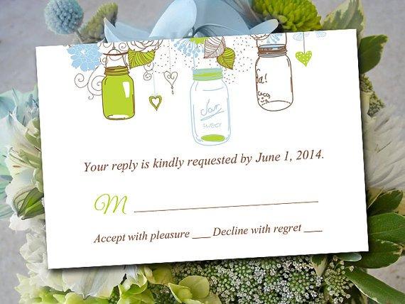 Printable Mason Jar Invitation Template