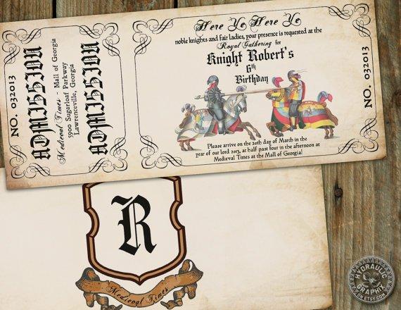 Printable Medieval Times Invitations
