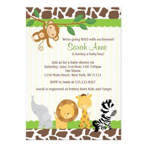 Printable Monkey Baby Shower Invitations Templates